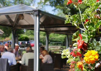 Enjoy our beer garden and terrace on a Summer's day